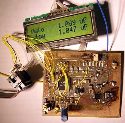 ATMEGA AVR capacitor measure with some kynar wires