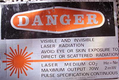 waning laser radiation