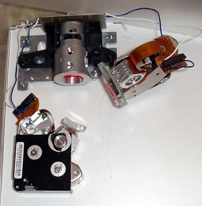 2d scanner from hard disk voice coils