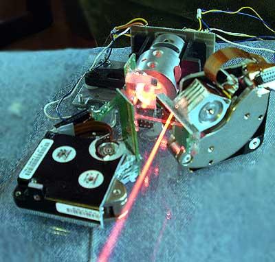 2d laser show laser scanner selfmade