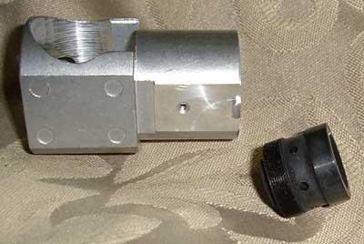 inner stuck part of laser collimator
