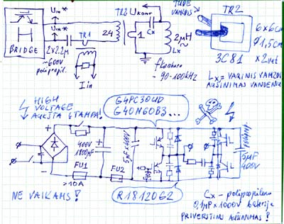 PLL induction heater schematics