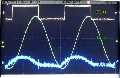 PLL induction heater waveforms