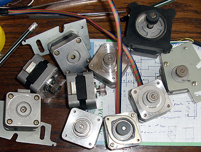 stepper motors from dot matrix printers