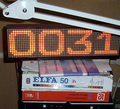 LED clock finished