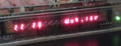 RED LED clock mini