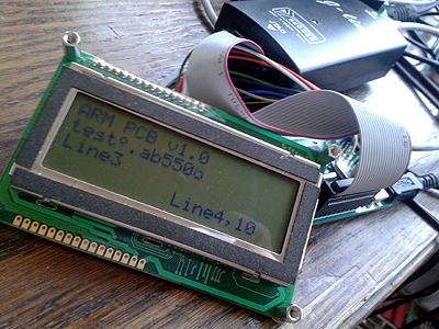 ARM SAM7 text LCD library