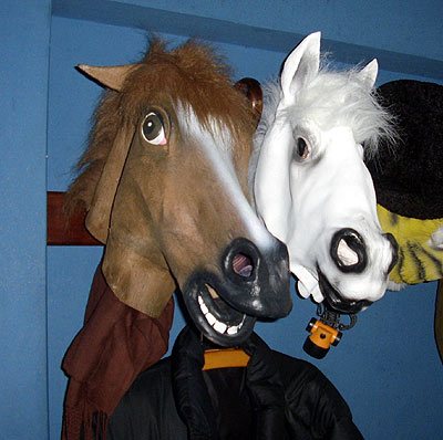 Rubber Horse Mask- two models found in the internet.