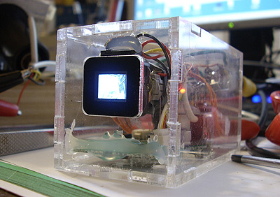 crt tv mini from camera