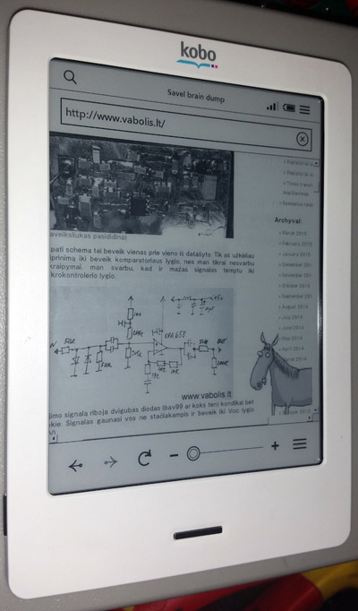 kobo ebook e-ink reader