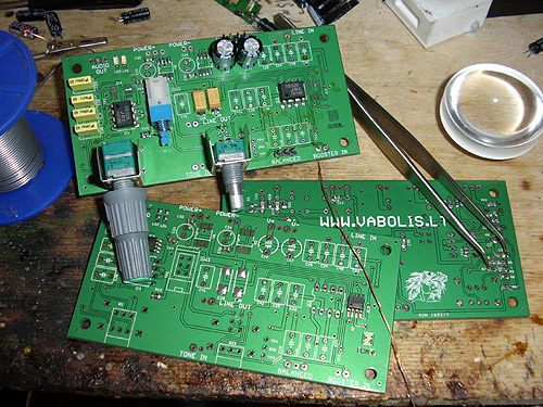 bass and treble PCB OPA2134