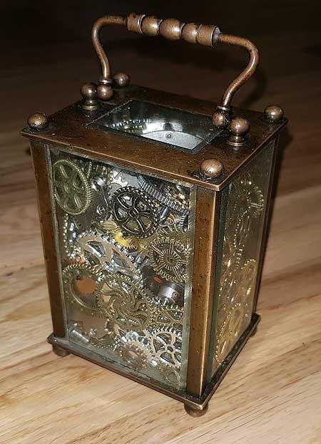 steampunk style box and lamp