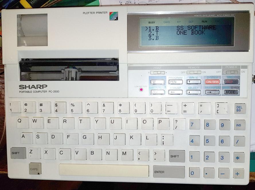 Sharp PC-2500 repair