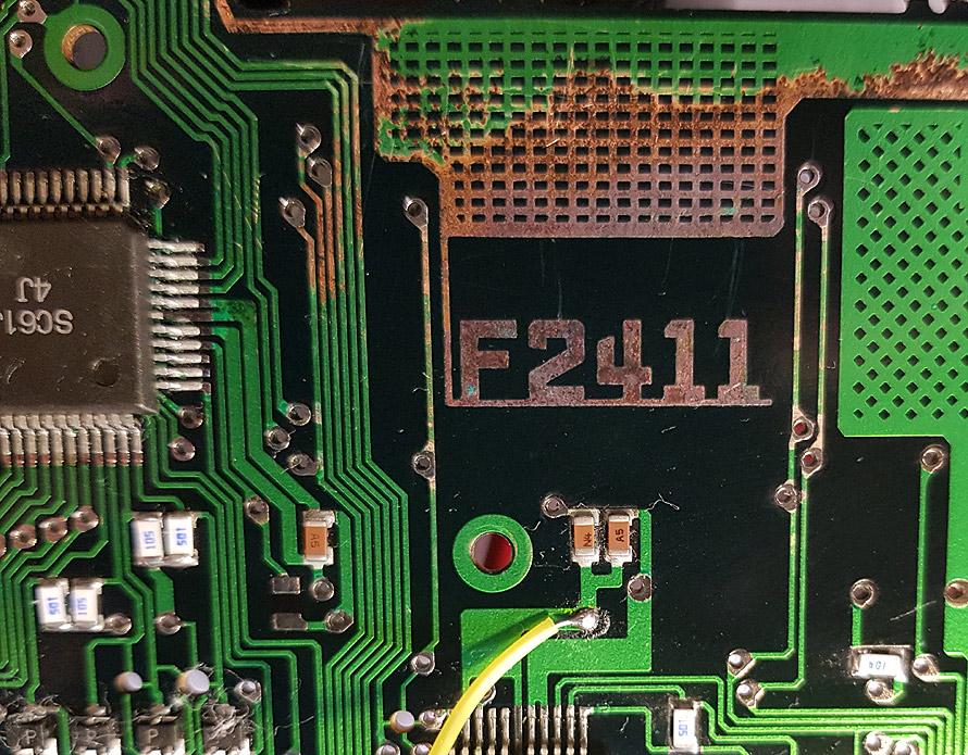 PCB damage by alkaline battery leak